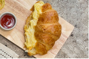 Egg, Cheddar Cheese on Croissant